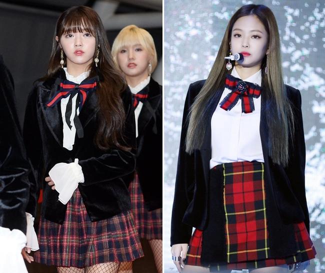 Oh My Girl bị tố đạo cả trang phục lẫn phụ kiện hàng hiệu của Jennie Kim - Ảnh 5.
