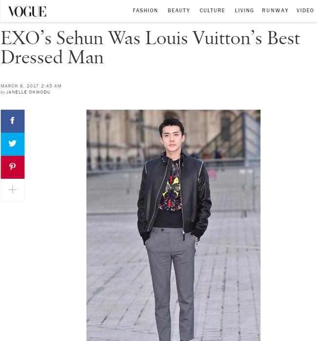 Dự show Louis Vuitton, Sehun ăn đứt Hứa Ngụy Châu về độ nam tính, được Vogue chọn là sao nam mặc đẹp nhất - Ảnh 6.