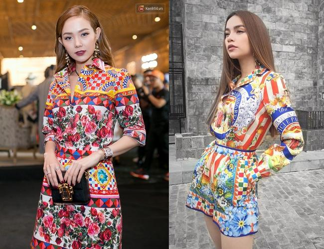 Cùng chọn đồ của một hãng, Minh Hằng và Hà Hồ trông na ná nhau vì đụng ý tưởng từ trang phục tới style trang điểm - Ảnh 5.