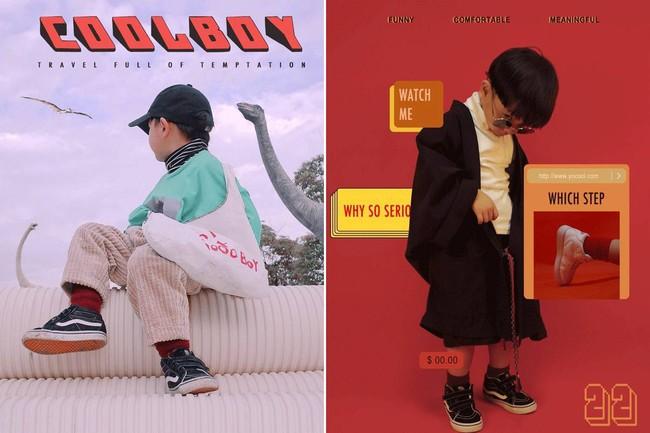 Cậu nhóc 4 tuổi chuyên lấy quần áo của bố diện thành đồ phong cách retro siêu độc đáo - Ảnh 16.