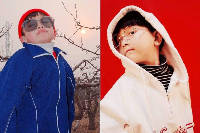 Cậu nhóc 4 tuổi chuyên lấy quần áo của bố diện thành đồ phong cách retro siêu độc đáo - Ảnh 17.