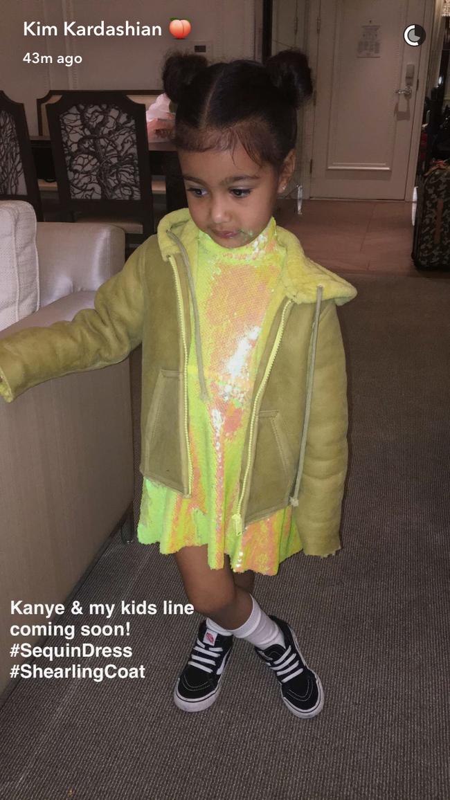 Kim - Kanye sắp ra mắt BST thời trang trẻ em, bé North đương nhiên là người diện đầu tiên - Ảnh 2.