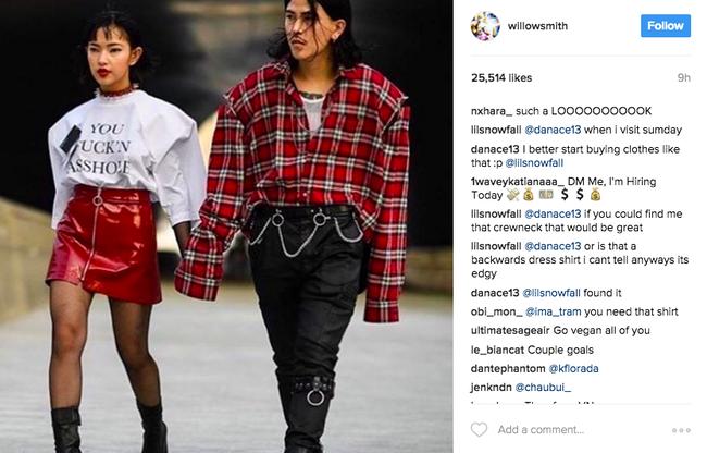 Ảnh diện đồ đôi của Châu Bùi - Cao Minh Thắng khiến Willow Smith đăng lên Instagram kèm icon thèm thuồng - Ảnh 3.