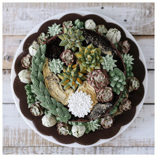 Ngắm nhìn 14 kiệt tác bánh gato hoa đá đẹp long lanh như thật - Ảnh 27.