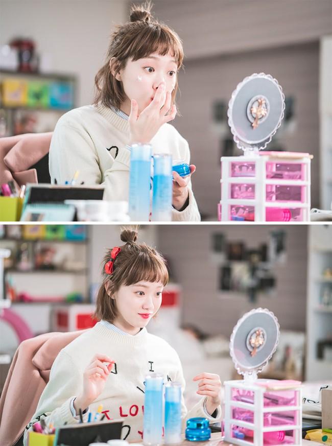 Phim đã hết nhưng con gái Hàn vẫn đổ xô cắt tóc ngắn cũn, tô son giống tiên nữ cử tạ Kim Bok Joo - Ảnh 3.