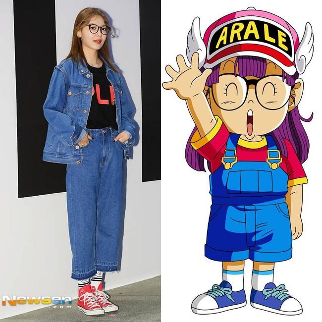 Ăn vận trẻ trung dự Seoul Fashion Week, Sooyoung được ví dễ thương như nhân vật truyện tranh Arale - Ảnh 3.