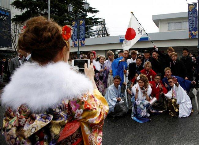 Các cô gái Nhật Bản xinh đẹp trong lễ trưởng thành - Ảnh 15.