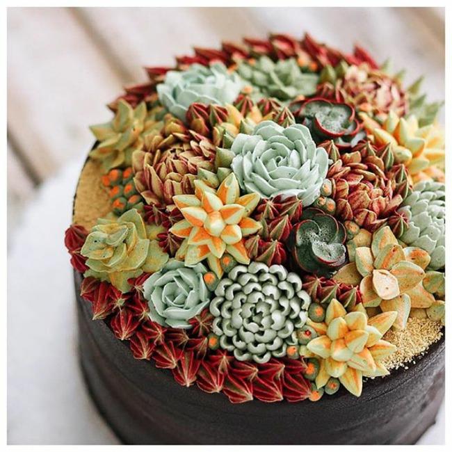 Ngắm nhìn 14 kiệt tác bánh gato hoa đá đẹp long lanh như thật - Ảnh 23.