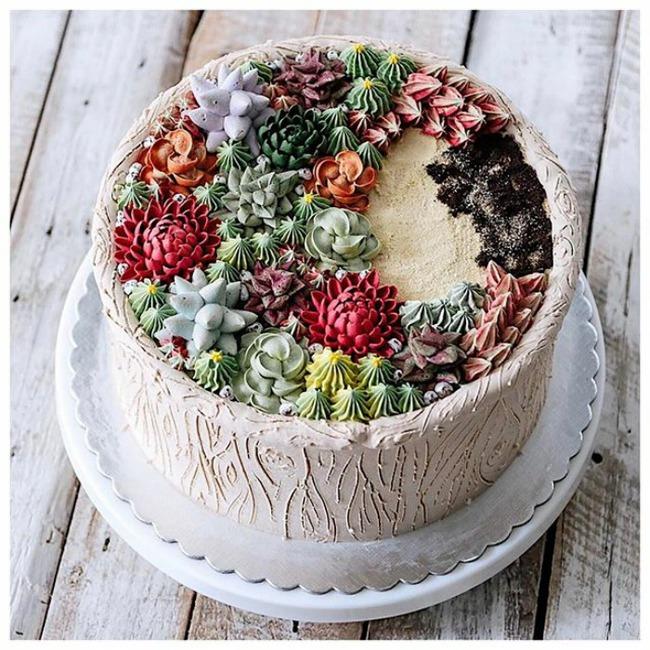 Ngắm nhìn 14 kiệt tác bánh gato hoa đá đẹp long lanh như thật - Ảnh 17.