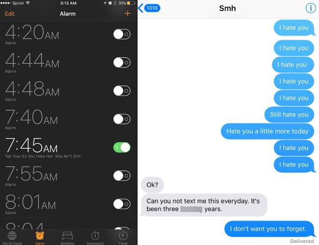 Suốt 3 năm liền, chàng trai vẫn miệt mài nhắn tin Tôi ghét cô rồi gửi cho bạn gái cũ vào 7h45 sáng - Ảnh 1.