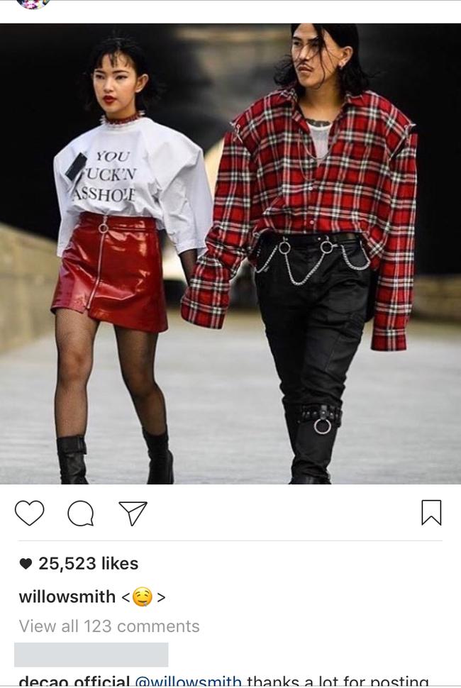 Ảnh diện đồ đôi của Châu Bùi - Cao Minh Thắng khiến Willow Smith đăng lên Instagram kèm icon thèm thuồng - Ảnh 2.