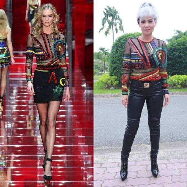 Sau 2 năm, Thu Minh lại có thêm một pha phá hàng hiệu Versace đi vào lịch sử - Ảnh 3.