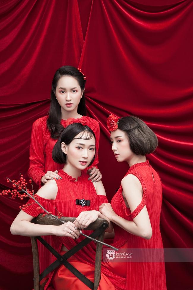 3 nàng hot girl Salim, Sun HT, Lê Vi xinh lạ trong những mẫu áo dài cách tân độc đáo - Ảnh 9.