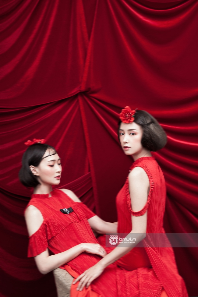 3 nàng hot girl Salim, Sun HT, Lê Vi xinh lạ trong những mẫu áo dài cách tân độc đáo - Ảnh 13.