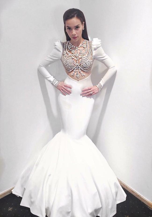 NTK Lý Quí Khánh tố trang phục anh thiết kế riêng cho Hà Hồ bị thương hiệu Reem Acra ăn cắp mẫu - Ảnh 4.