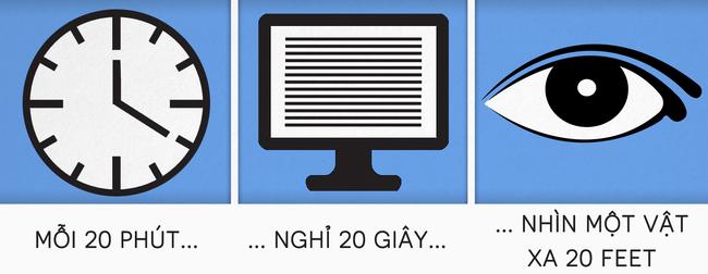 Ai cũng biết quy tắc này thì ngồi máy tính cả ngày cũng chẳng sợ mỏi người,  mỏi mắt nữa