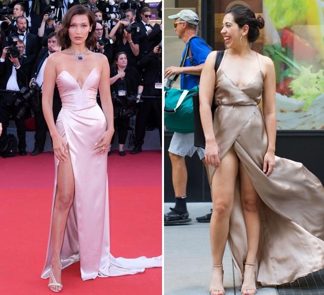 Cô nàng này đã diện thử chiếc váy lộ hàng giống Bella Hadid và đây là cái kết - Ảnh 1.