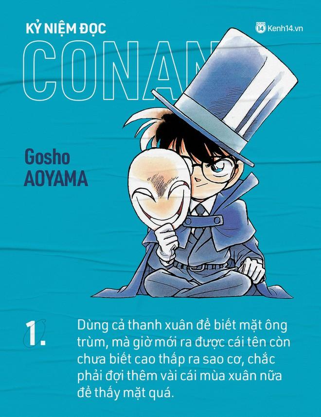 Rất nhiều người đọc Conan khi mới 7 tuổi và bây giờ thì họ đã lên chức bố mẹ rồi!