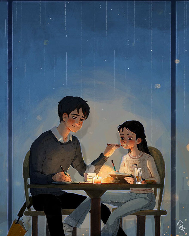 Bộ tranh: Tình yêu là khi chúng ta có thể tìm thấy ai đó đồng điệu để sẻ chia cuộc sống này - Ảnh 3.