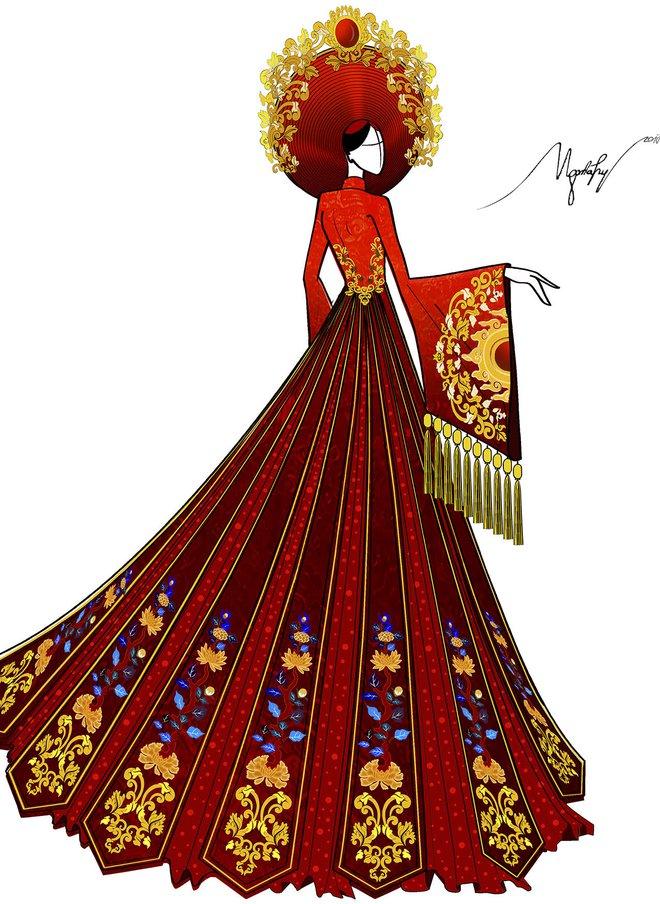 Ngắm trang phục truyền thống nặng hơn 30kg mà Huyền My sẽ mặc tại Miss Grand International 2017 - Ảnh 4.