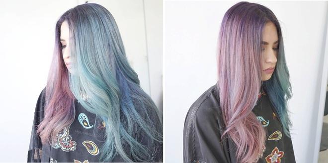 Tóc nhuộm nửa nọ nửa kia - Xu hướng tóc siêu chất chấp hết các màu nhuộm chói chang từ trước tới nay - Ảnh 5.