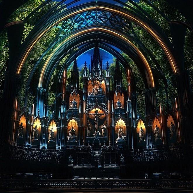 Màn trình diễn ánh sáng ngoạn mục biến nhà thờ thành xứ sở thần tiên - Ảnh 11.
