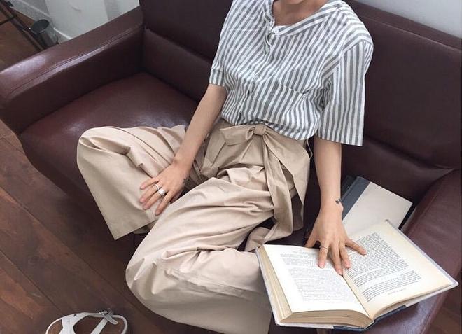 Ngay cả khi không thích quần vải, các cô nàng cũng sẽ đổ đứ đừ trước kiểu quần thắt nơ xinh xắn này - Ảnh 10.