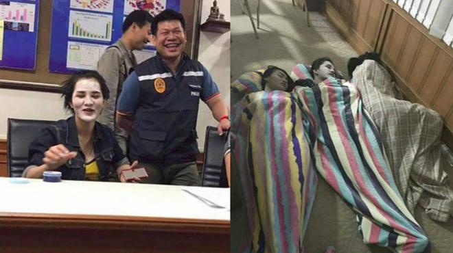 Cảnh sát Thái Lan bị chỉ trích vì chụp ảnh cười đùa với nghi phạm vụ giết người gây rúng động - Ảnh 3.