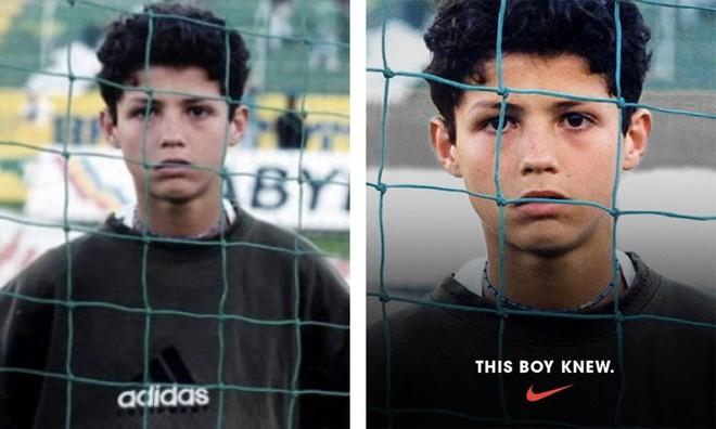 Thấy Cristiano Ronaldo mặc áo Adidas, Nike đã chế ảnh luôn thành áo của mình - Ảnh 2.