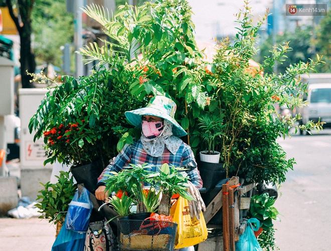 Trên đường phố Sài Gòn, có những người hàng chục năm chở theo một chợ xanh sau yên xe máy - Ảnh 1.