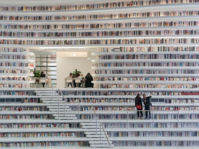 Ngắm thư viện đẹp nhất thế giới vừa được mở cửa tại Trung Quốc - Ảnh 13.