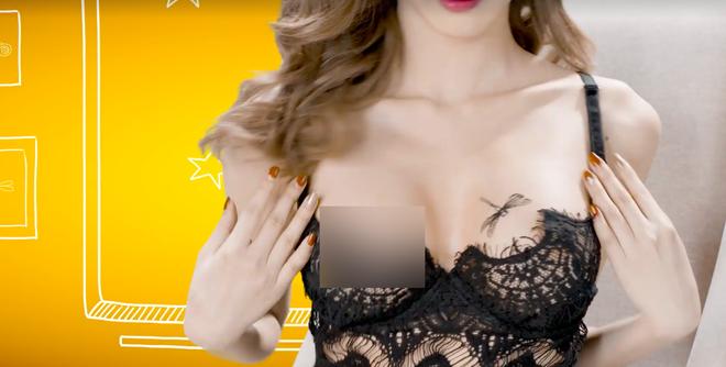 Vũ Ngọc Châm lộ vòng 1 trong clip quảng cáo - Ảnh 3.