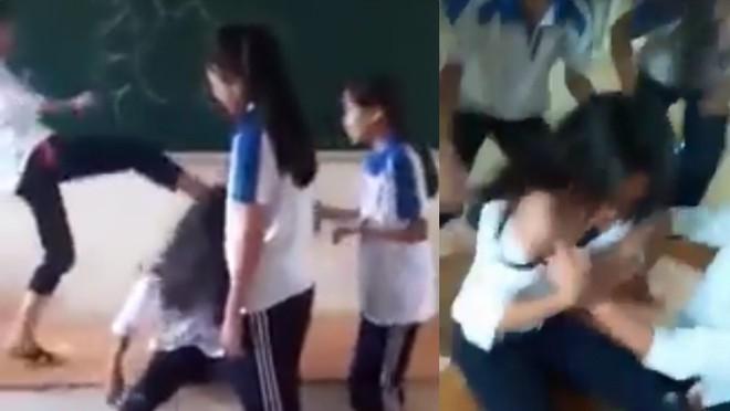 Hà Nội: Đình chỉ học 6 nữ sinh đánh hội đồng, lột áo nữ sinh cùng trường - Ảnh 1.