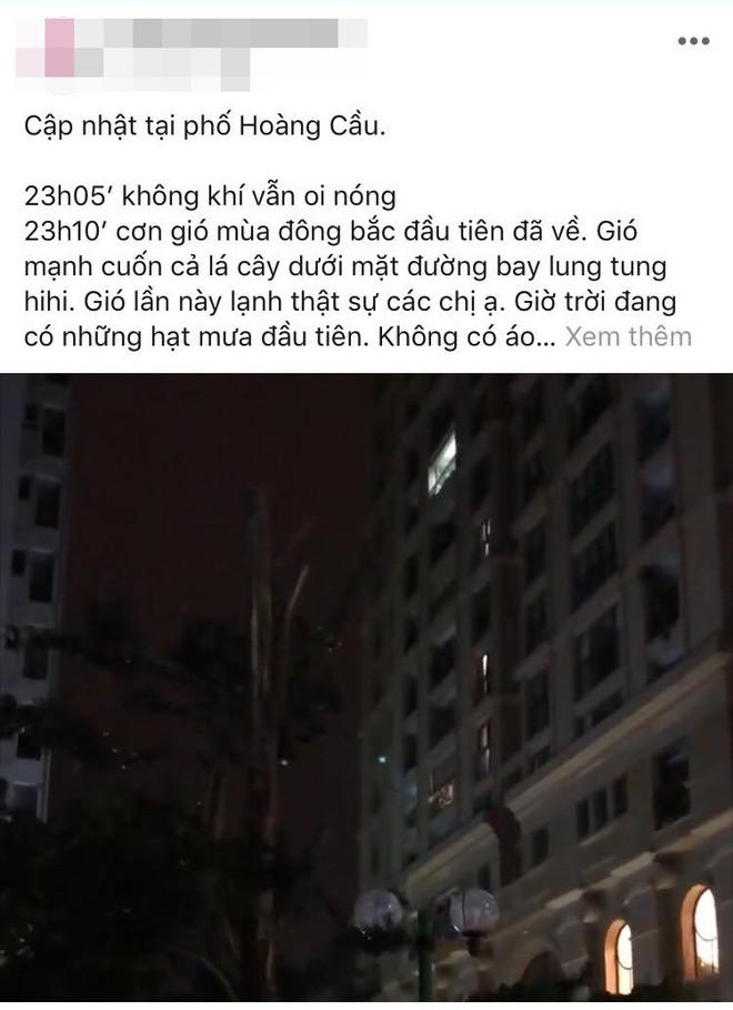 Hà Nội đã có gió mùa lần đầu trong năm, cư dân mạng thi nhau chia sẻ - ảnh 3