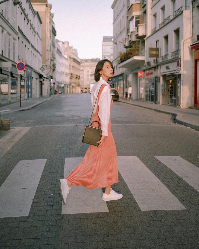 mix đồ cùng váy liền 2018