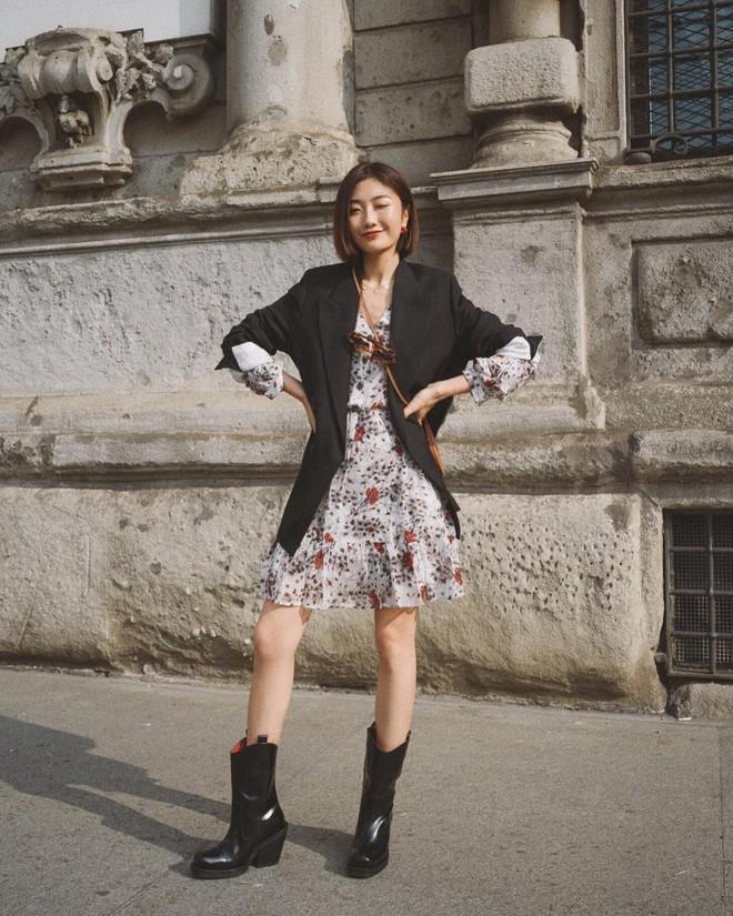 Váy/chân váy mix cùng boots: Công thức mùa lạnh năm nào cũng hot nhưng mặc thế nào để vừa đẹp lại tôn dáng? - Ảnh 3.