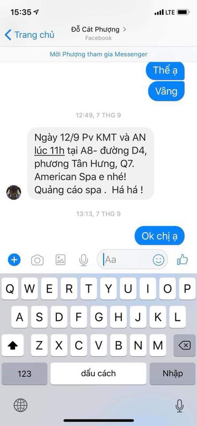 HOT: An Nguy công khai tin nhắn tố Cát Phượng đứng sau dàn dựng việc PR chuyện tình cảm với Kiều Minh Tuấn - Ảnh 1.
