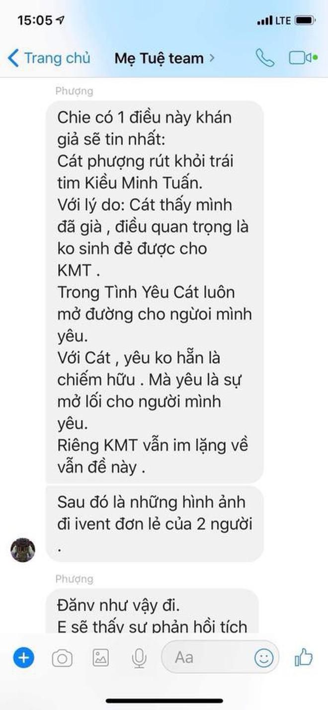An Nguy công khai tin nhắn team Mẹ Tuệ, tố Cát Phượng dàn dựng PR phim