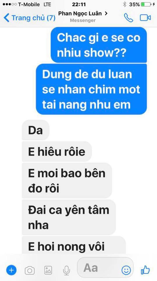 Đàm Vĩnh Hưng công khai tin nhắn Phan Ngọc Luân thừa nhận dựng chuyện ngủ chung giường để PR bản thân - Ảnh 1.