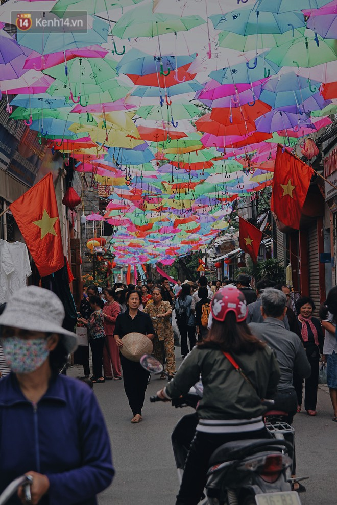 """Hà Nội xuất hiện """"con đường ô"""" lãng mạn như ở Bồ Đào Nha, người dân ùn ùn kéo đến chụp ảnh - Ảnh 5."""