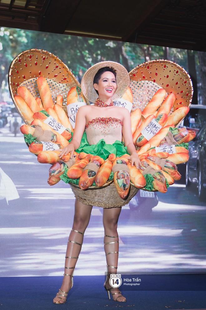 """H'Hen Niê tự tin trình diễn trang phục """"bánh mì"""" trên sân khấu Miss Universe 2018 - Ảnh 4."""