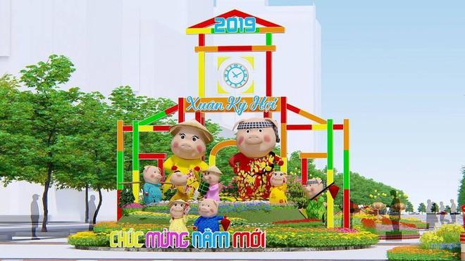 Đường hoa Nguyễn Huệ Tết Kỷ Hợi 2019 ở Sài Gòn kêu gọi chung tay ủng hộ học sinh nghèo - Ảnh 3.