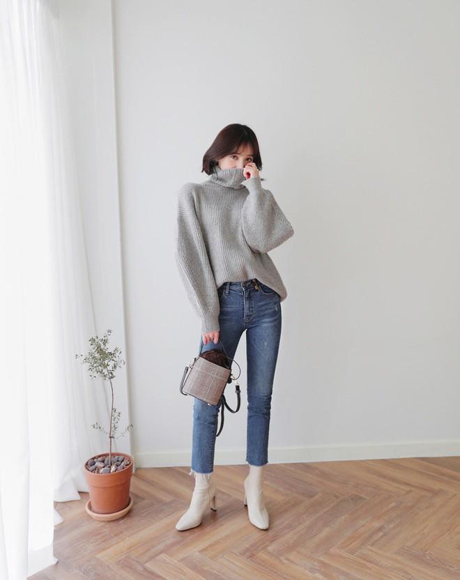 áo len và quần jeans nữ 2018