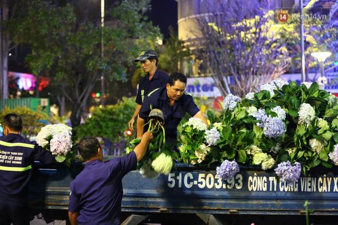 Clip: Tranh thủ mót hoa ở đường hoa Nguyễn Huệ đêm bế mạc, nhiều người dân bị bảo vệ xông ra ngăn cản - Ảnh 10.