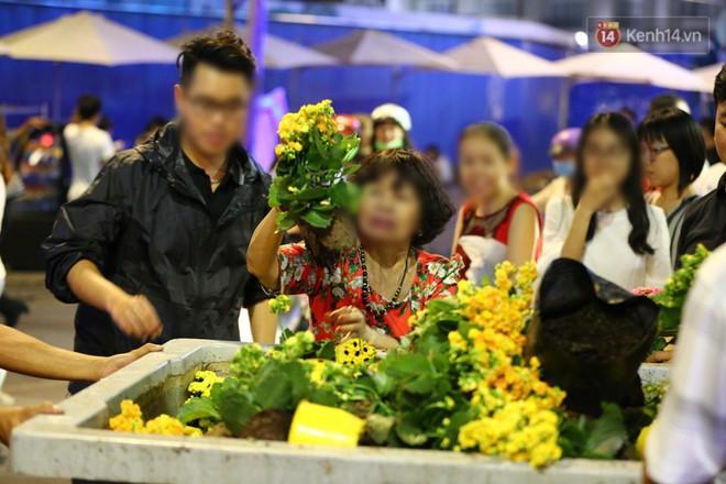 Những chậu hoa được người dân đứng lựa lại đem về nhà