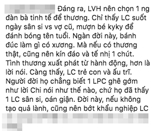 """Bị chỉ trích lôi con gái ra sân si với Lý Phương Châu, Linh Chi đáp trả: """"Nhân cách tôi hơn cô ta!"""" - Ảnh 2."""