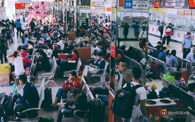 Người dân về quê đón Tết: Các ngã đường đến bến bến xe Miền Đông tắc nghẽn từ chiều đến tối, trẻ em ngủ trên xe 5
