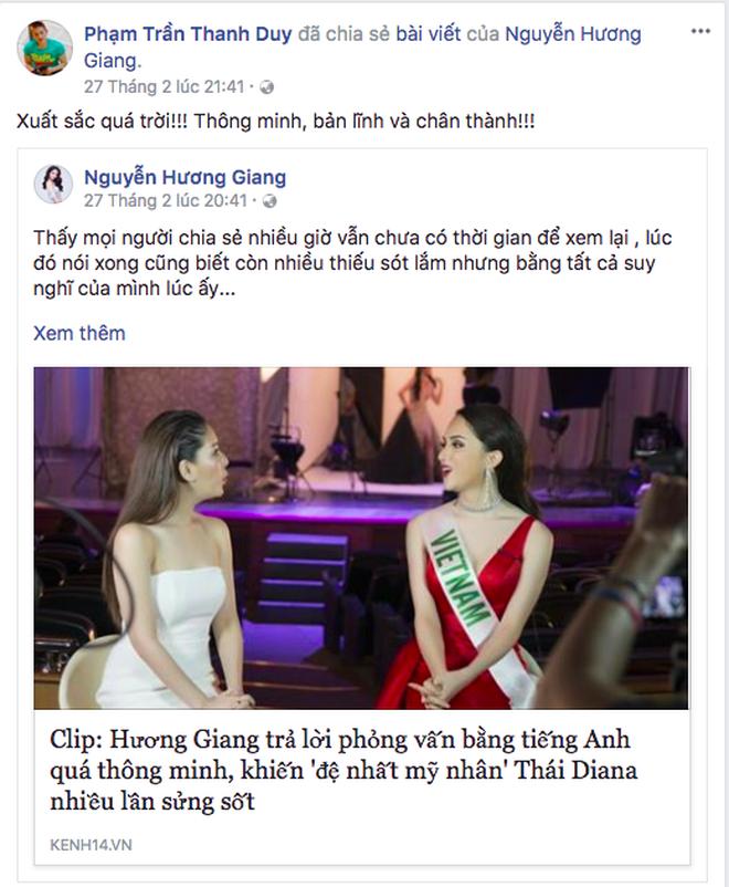 Sao Việt gửi lời nhắn tới Hương Giang trước thềm chung kết Hoa hậu Chuyển giới Quốc tế 2018 - Ảnh 4.