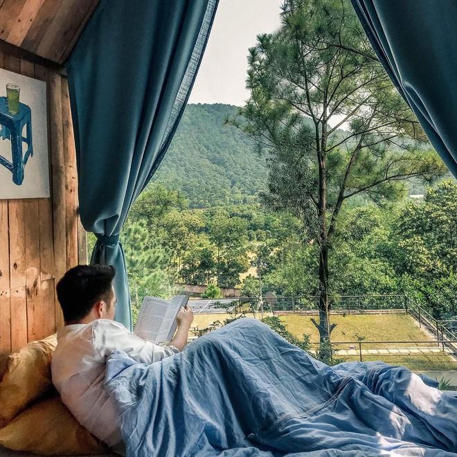 Ngày cuối tuần, trốn cả thế giới để đến với 3 homestay vừa xinh vừa xanh mát ở Hà Nội - Ảnh 3.
