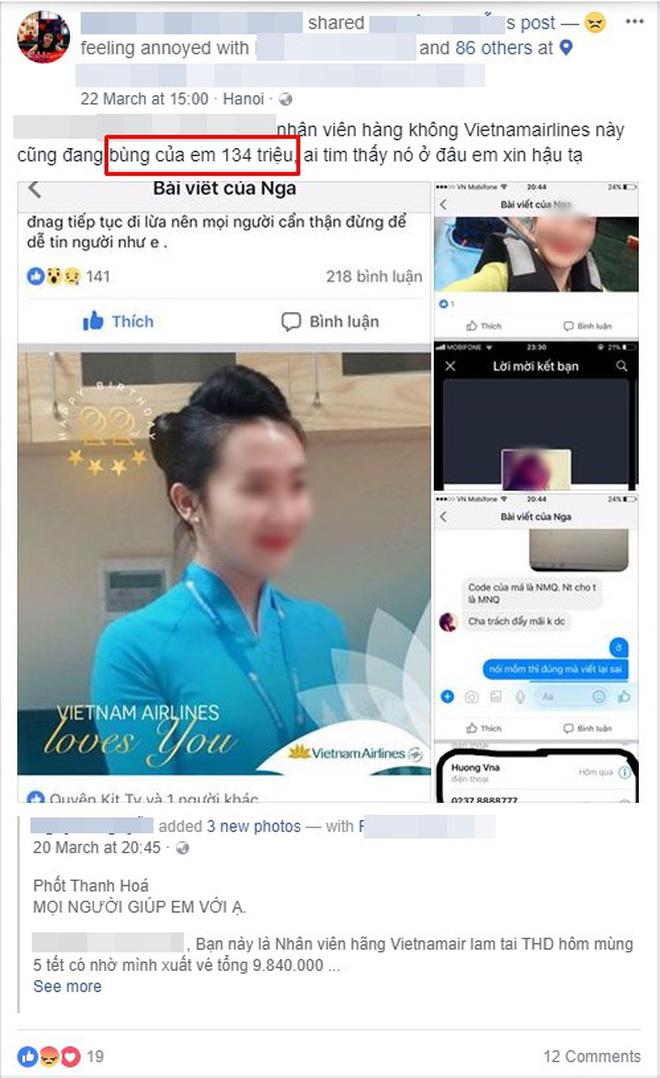 """Nhiều khách hàng tố nữ nhân viên phòng vé Vietnam Airlines ở Thanh Hóa """"bùng"""" hàng trăm triệu đồng tiền đặt vé máy bay - Ảnh 6."""